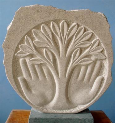 Danny Clahane Tree Of Life Tondo Relief Carving