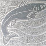 Atlantic Salmon by Danny Clahane, Sculpture, Slate