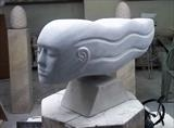 Bardiglio head by Danny Clahane, Sculpture