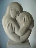 Embrace by Danny Clahane, Sculpture, Limestone