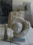 Hold by Danny Clahane, Sculpture, Portland and Hopton Wood stone