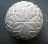 Leaf Sphere by Danny Clahane, Sculpture, Portland stone