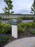 North Wind by Danny Clahane, Sculpture, Slate and Portland stone