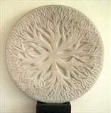 Tree Tondo by Danny Clahane, Sculpture, Portland Stone
