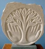 Tree of life tondo by Danny Clahane, Sculpture